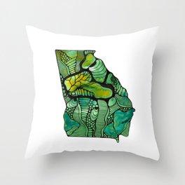 Georgia Green Throw Pillow
