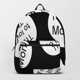Riggo Monti Design #11 - True to Love This (Blk. Bkgrnd.) Backpack