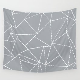 Abstract Dotted Lines Grey Wall Tapestry