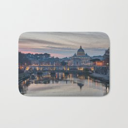 Saint Peter's Basilica at Sunset Bath Mat