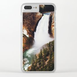 Yellowstone Falls Clear iPhone Case