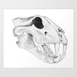 Prehistoric Cat Skull Art Print