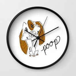 Dirty Dishes Rated G-- Dog Wall Clock