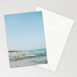Summer in Italy | Spiaggia Pilone Puglia | Wanderlust beach photography print Stationery Cards