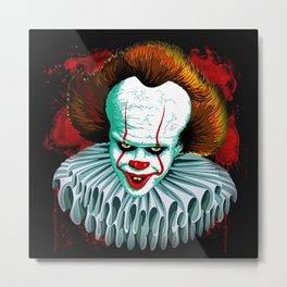 The Dancing Clown - Pennywise IT - Vector - Stephen King Character Metal Print