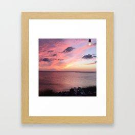 Sunset on the Sound - Outerbanks, North Carolina Framed Art Print