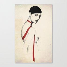 Ruban Rouge série - Ophélie Canvas Print