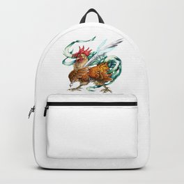 Rooster Orange Chicken Bird Backpack