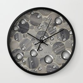 Stone and Sphere Wall Clock