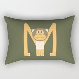 Letter M // Animal Alphabet // Monkey Monogram Rectangular Pillow