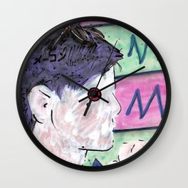 Milk Android Justin Consults Schrödinger's Love Triangle Wall Clock