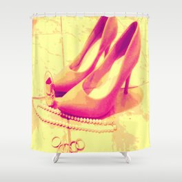 Pink Pumps - Favorite Things Shower Curtain