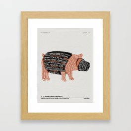 BROKEN BARREL Framed Art Print
