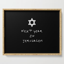 Next year in Jerusalem 5 Serving Tray