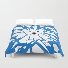 Save the Arctic Polar Bear and Melting Ice Caps Duvet Cover