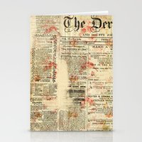 newspaper Stationery Cards featuring Vintage newspaper grunge by MJ'designs - Marosée Créations