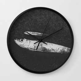 Found Fish Wall Clock