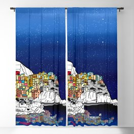 Manarol Italy Coast Landscape Blackout Curtain