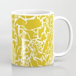 Yellow White Lines Coffee Mug