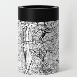 Prague White Map Can Cooler