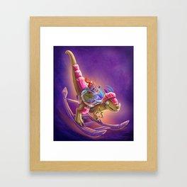 Raptor Swing - Warcraft Framed Art Print