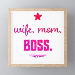 Wife Boss Framed Mini Art Print