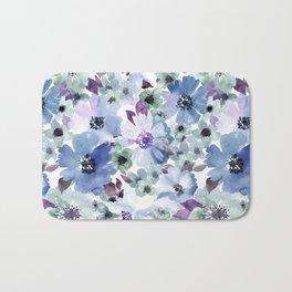 FLOWERS WATERCOLOR 20 Bath Mat