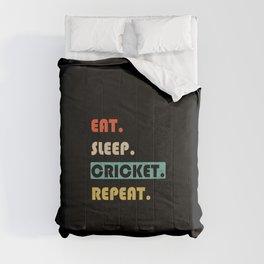 Eat Sleep Cricket Repeat Funny Sport Comforters