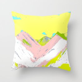Soft Color Mountain Throw Pillow