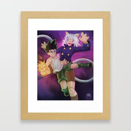gon vs pitou Framed Art Print