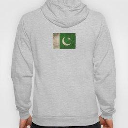 Old and Worn Distressed Vintage Flag of Pakistan Hoody