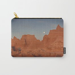 Moonsetting at Sunrise in the Badlands Carry-All Pouch
