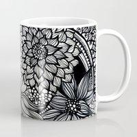 alisa burke Mugs featuring doodles by Alisa Burke