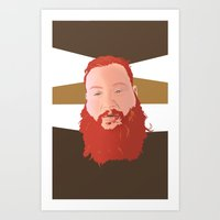 action bronson Art Prints featuring Action Bronson by Solglo