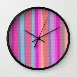 Boho-Chic Pinstripe Wall Clock