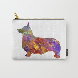 Pembroke Welsh Corgi 01 in watercolor 2 Carry-All Pouch