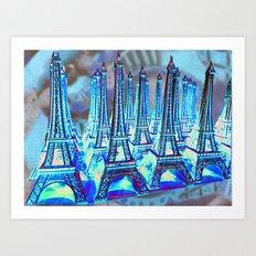 TOUR PARIS PARIS PARIS PARIS Art Print