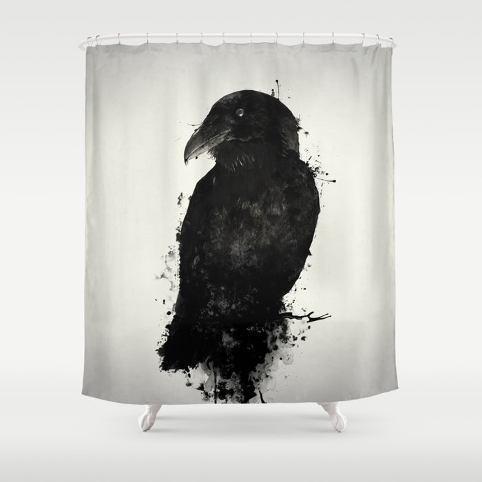 Gentil The Raven Shower Curtain