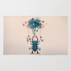 funny beetle Rug