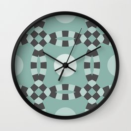 Linked - antique green and gray Wall Clock