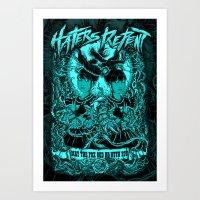 Haters Repent (Blue Version) Art Print