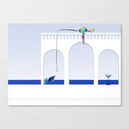 fish and bird Canvas Print