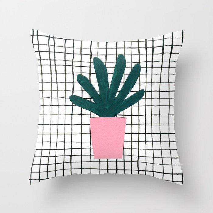 Plant Pot Throw Pillow