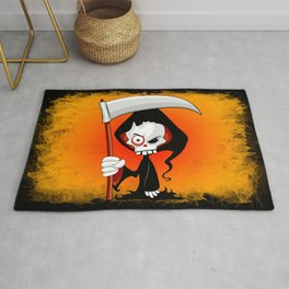 Grim Reaper Creepy Cartoon Character Rug