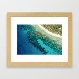 Island paradise Framed Art Print