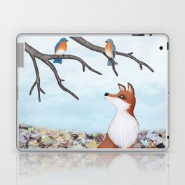 fox and eastern bluebirds Laptop & iPad Skin