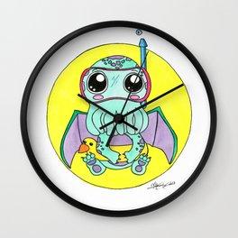 Just keep swimming, Cute-thulu! Wall Clock