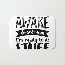 Funny Sarcastic Hoodie Not A Morning Person Hate Waking Up Bath Mat