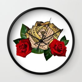Ouija Rose Wall Clock