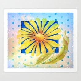 Huge Yellow Daisey Art Print
